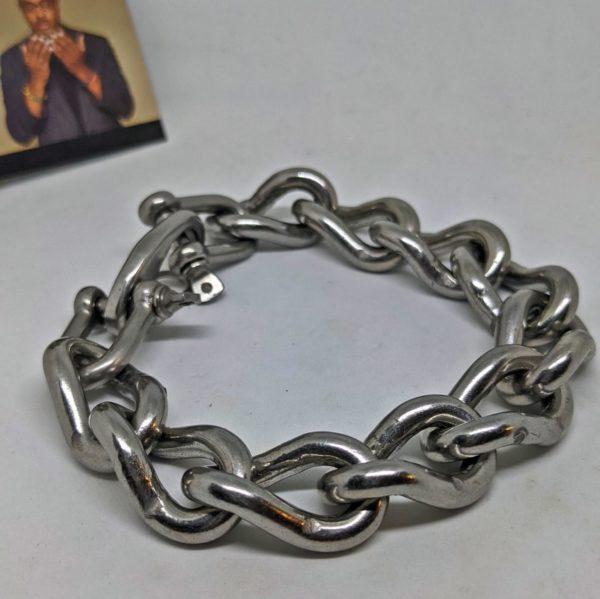 extra heavy steel chain bracelet